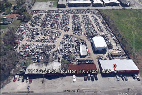 Aerial Photo of Scott Street Auto Parts